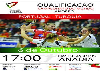 Cartaz Portugal - Turquia - seniores femininos - qualificação campeonato mundo - 06.10.12, Anadia