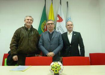 Joaquim Escada, Pedro Adão e Miguel Laranjeiro - assinatura protocolo Portugal - Áustria