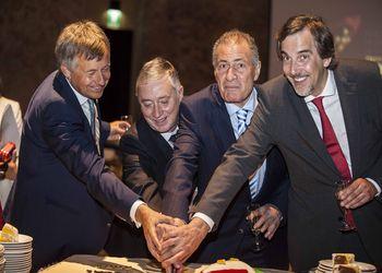 75º Aniversário FAP - Michael Wiederer (EHF), Ulisses Pereira (FAP), Hassan Moustafa (IHF) e Emídio Guerreiro, secretário de Estado do Desporto e da Juventude