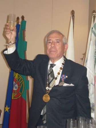 Luis Santos na Festa de Homenagem
