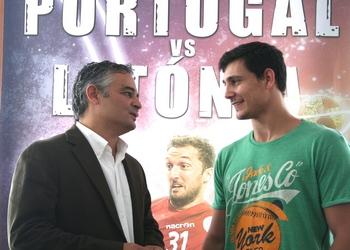 Pedro Portela com Rolando Freitas