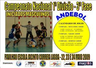 Cartaz 3ª Fase Campeonato Nacional 1ª Divisão Iniciados Masculinos
