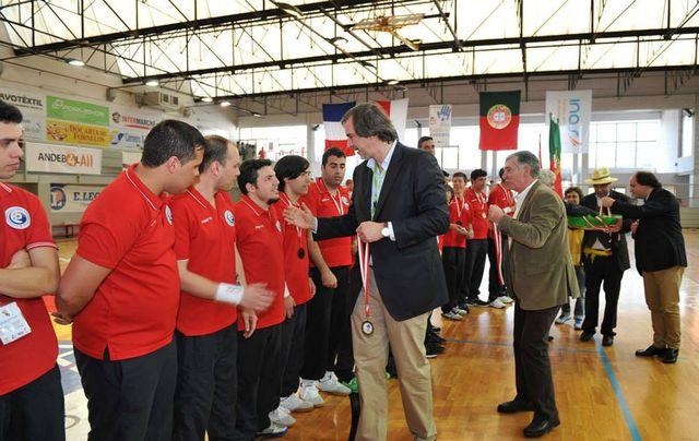 Portugal campeão Europeu de Andebol INAS - entrega prémios