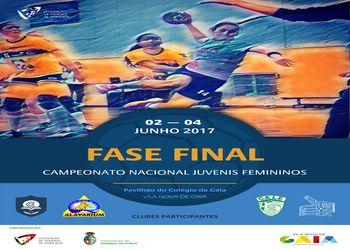 Cartaz Fase Final do Campeonato Nacional de Juvenis Femininos 2016-2017