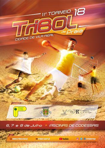 Cartaz 11º Torneio Tribol de Praia Cidade de Vila Real / JAPautomotive