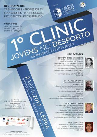 Cartaz I Clinic Jovens no Desporto - Da Prevenção à Intervenção