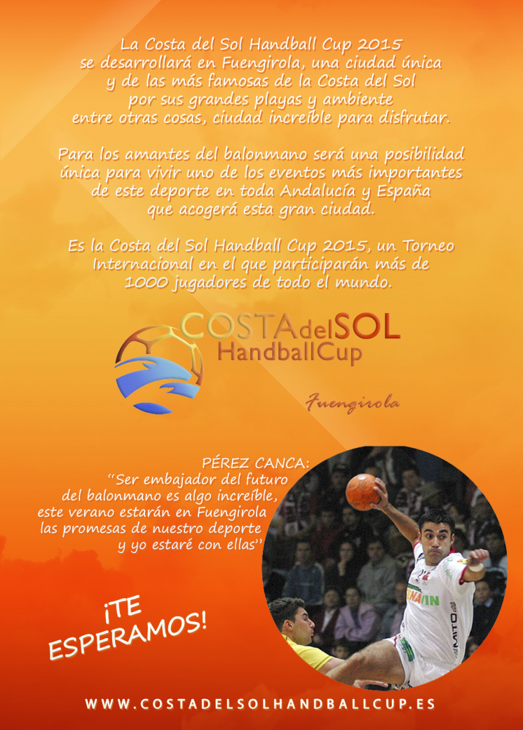 Flyer Costa del Sol Handball Cup 2015