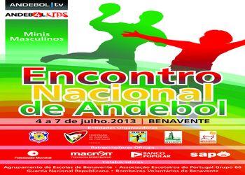 Cartaz Encontro Nacional Minis Masculinos - Benavente, 4 a 7 Julho 2013