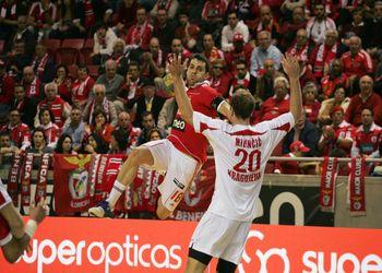 SL Benfica : Radnicki Gragujevac - 1/4 final Taça Challenge - foto: João Matos
