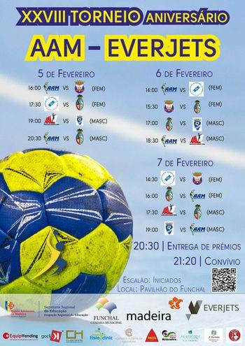 Cartaz XXVIII Torneio Aniversário AAM / EVERJETS