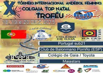 Cartaz X Torneio Internacional Andebol Feminino Top Natal / Troféu Universal 2015 - destaque principal