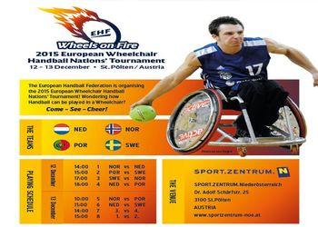 Cartaz European Wheelchair Handball Nations Tournament