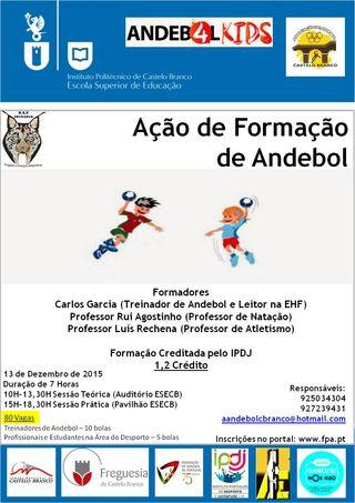 Cartaz Acção de Formação Creditada para Treinadores em Castelo Branco