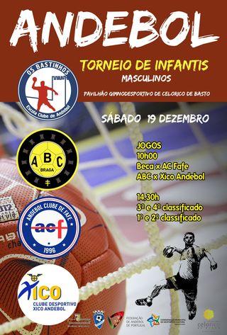 Cartaz Torneio de Infantis Masculinos de Celorico de Basto - 19 de Dezembro