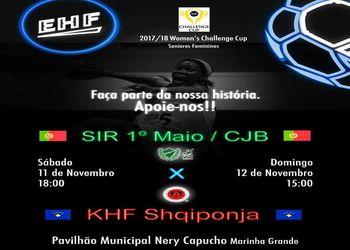 Cartaz Challenge Cup - SIR 1º Maio/ ADA CJ Barros : KHF Shqiponja