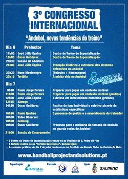 Cartaz Programa Congresso Julho 2012