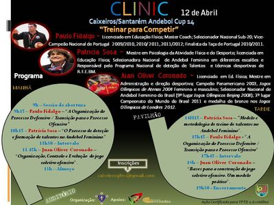 "Cartaz Clinic ""Treinar para Competir"""