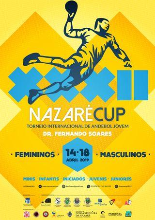 Cartaz XXXII Nazaré Cup - Torneio internacional de Andebol Jovem Dr. Fernando Soares