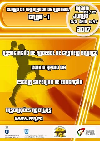 Cartaz Curso de Treinadores de Grau 1 – Castelo Branco 2017