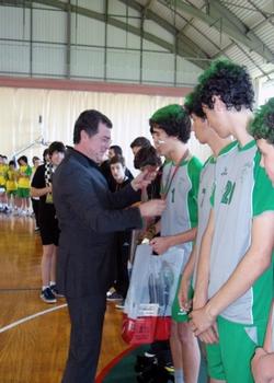 CA Leça recebe prémios das mãos do vice-presidente Aug.Silva