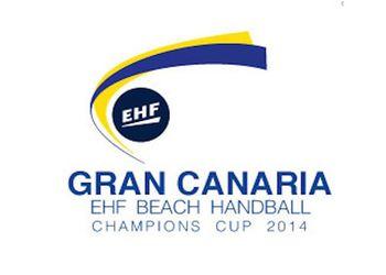 Logo Taça Campeões Europeus Andebol Praia