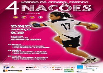 Cartaz Torneio 4 Nações feminino