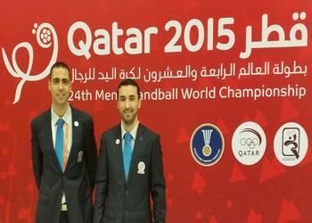 Duarte Santos e Ricardo Fonseca - Árbitros - Janeiro 2015 - Qatar