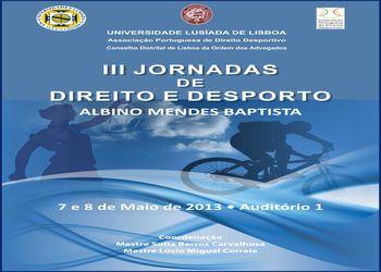 Cartaz III Jornadas Direito e Desporto