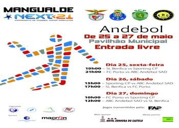 Cartaz fase final Next21 em Mangualde