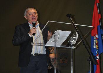 Presidente da FAP, Ulisses Pereira, no encerramento do Maia Handball Cup 2014