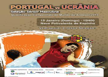 Cartaz Portugal - Ucrânia - 15.01.12, Espinho