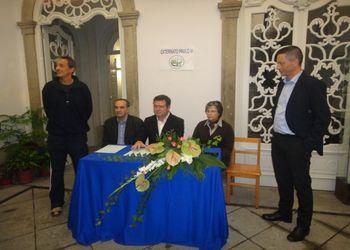 Assinatura de protocolo FAP, AA Braga e Externato Paulo VI de Braga