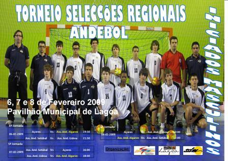 Cartaz Torneio Selecções Regionais Andebol