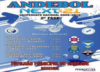 Cartaz 2ª Fase Grupo A Zona 1 do Next<21 - Campeonato Nacional 1ª Divisão Juniores masculinos - Resende, 30.04 a 02.05.10