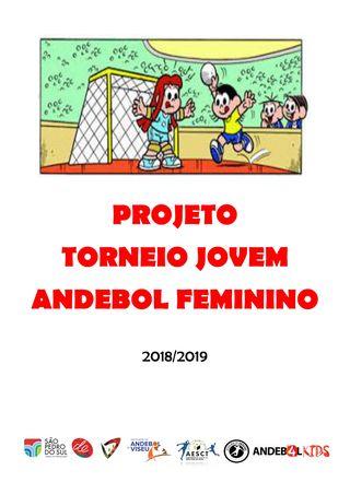 Cartaz Torneio Jovem de Andebol Feminino - São Pedro do Sul