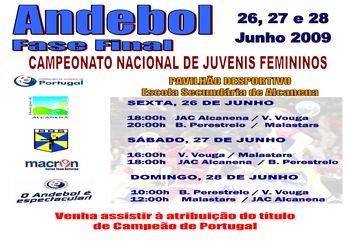 Cartaz Fase Final Campeonato Nacional Juvenis Femininos