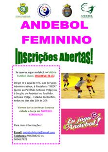 Inscrições abertas para o andebol feminino no Vitória Futebol Clube