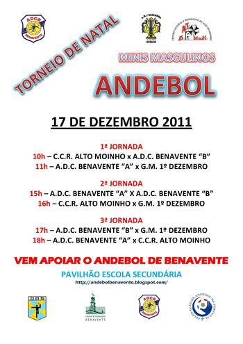 Cartaz Torneio de Natal ADC Benavente - Minis Masculinos