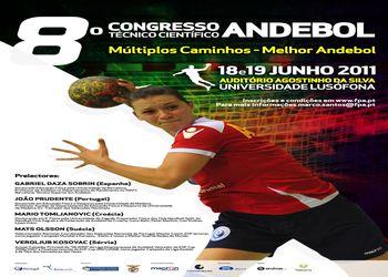 Cartaz 8º Congresso Técnico - Científico de Andebol - 18 e 19 de Junho de 2011 - destaque grande