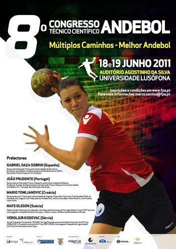 Cartaz 8º Congresso Técnico - Científico de Andebol - 18 e 19 de Junho de 2011