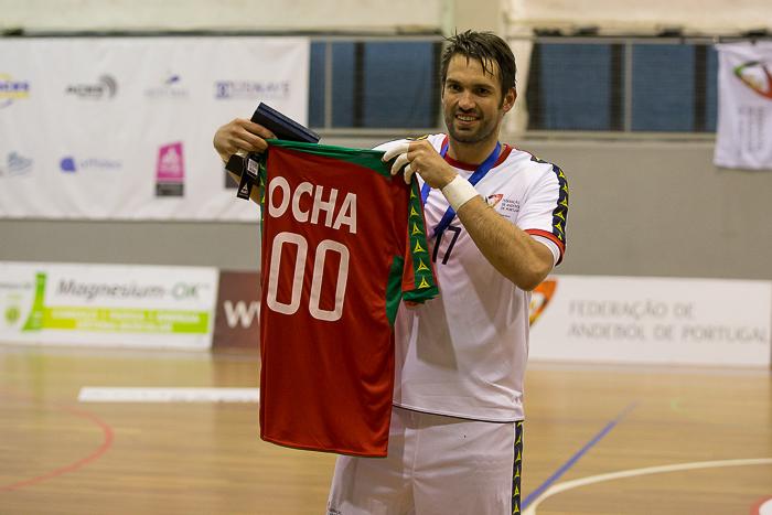 Tiago Rocha - Homenagem 100ª internacionalização - Portugal : Qatar - foto: Pedro Alves/ PhotoReport.In