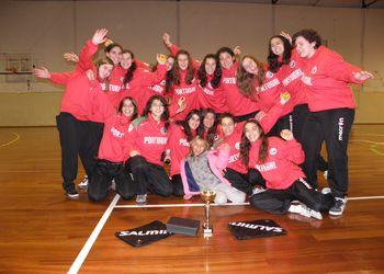 Juniores A femininas - vencedoras do torneio Top Natal