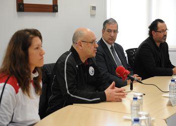 Conferência de imprensa de Apresentação do Torneio Internacional de Leiria - Renata Tavares, João Florêncio, Raul Castro e Mário Bernardes