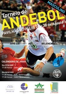 Cartaz II Torneio Andebol Masculino Juve 2009