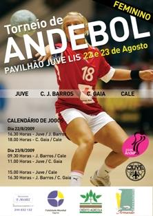 Cartaz III Torneio de Andebol Feminino Juve 2009