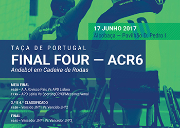 Cartaz Final Four ACR6 - Alcobaça