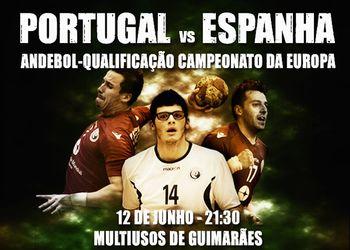 Cartaz Portugal : Espanha - Guimarães, 12.06.16 - qualificação Campeonato da Europa 2014
