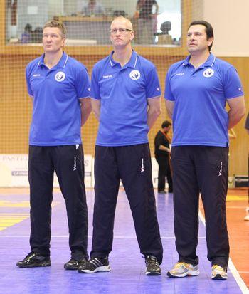 Mats Olsson, Thomas Sivertsson e Luis Pinto