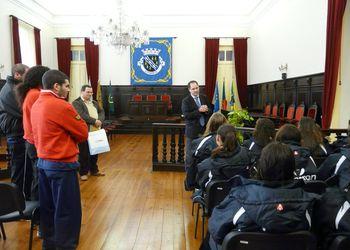 Recepção à Selecção Nacional Juniores B femininas na CM Estarreja
