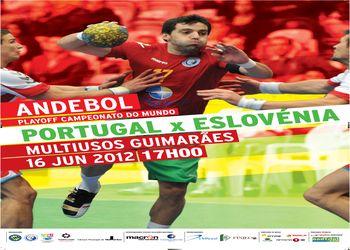 Cartaz Portugal - Eslovénia - playoff Campeonato Mundo